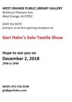 Geri Hahn Art Show 12 2 2018