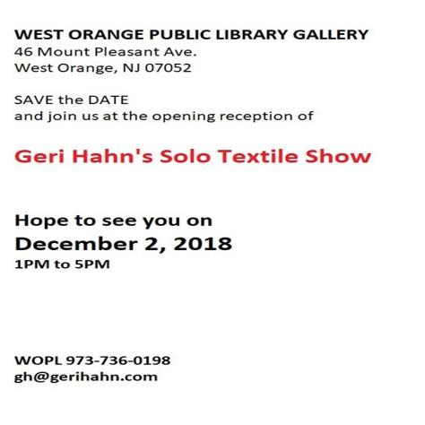 Geri Hahn Art Show 4x4 12 2 2018